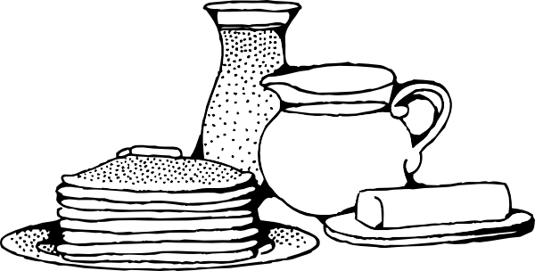 clip freeuse download Breakfast with clip art. Pancakes black and white clipart