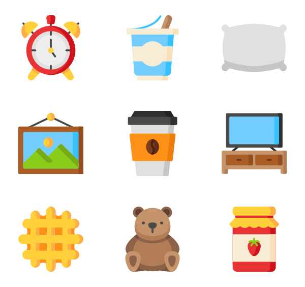 royalty free download Breakfast Icons