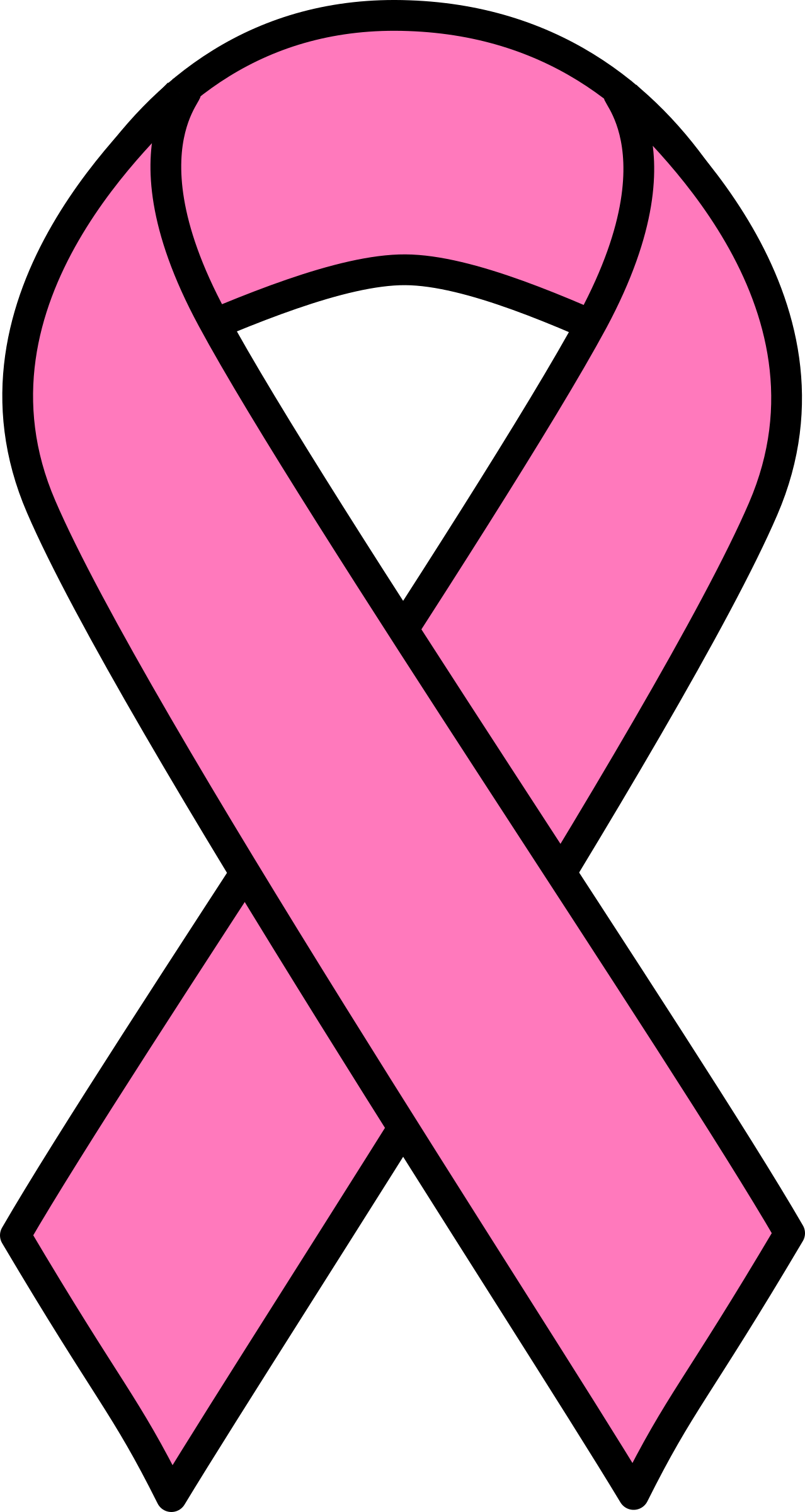picture royalty free stock Breast clipart breast cancer. Pink ribbon big image