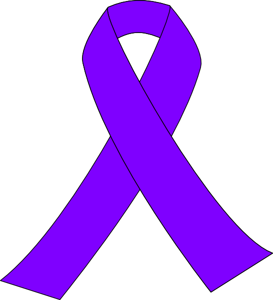 png Breast clipart clip art. Purple cancer ribbon at