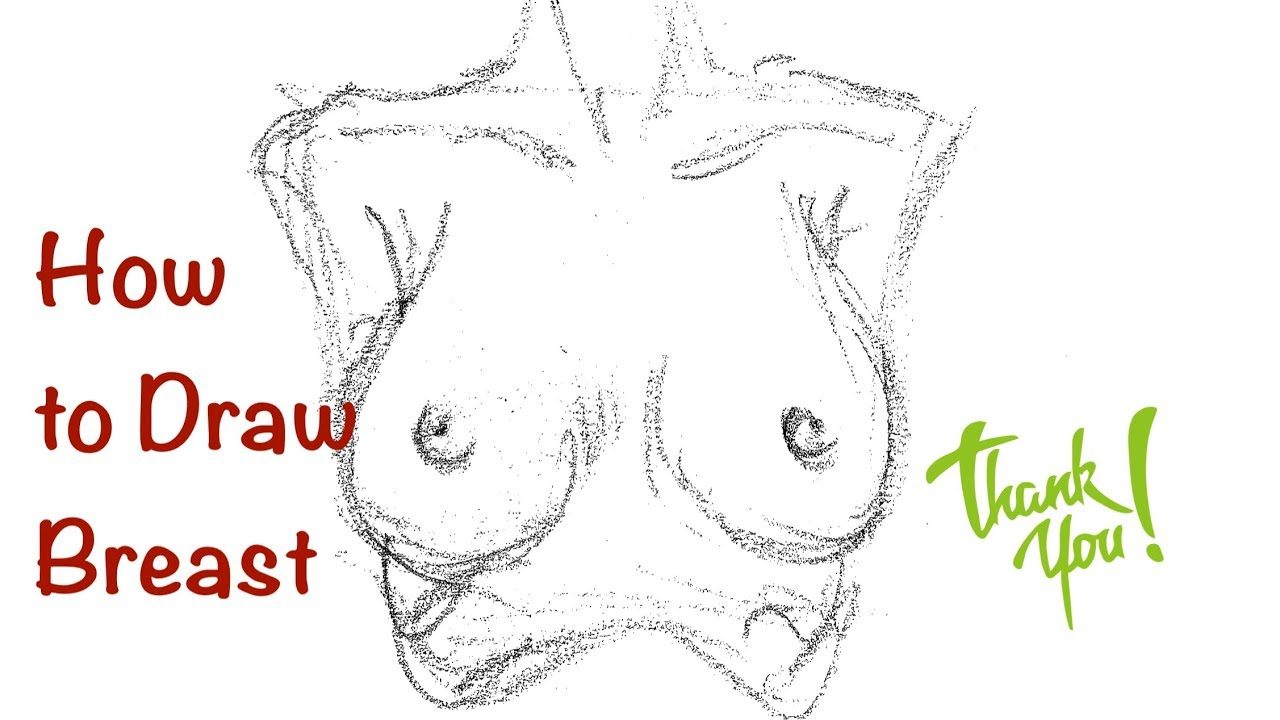 clip freeuse download Breasts drawing. How to draw easy