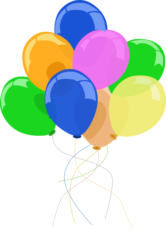 banner transparent stock Balloons Party Banner Clipart