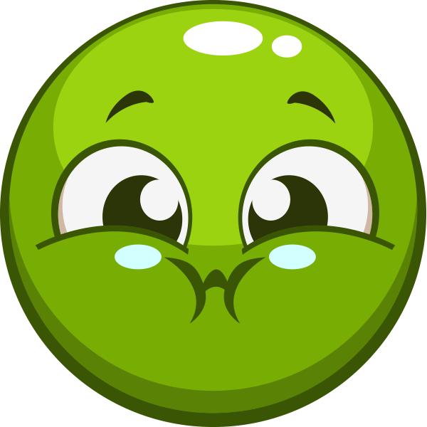 clip transparent Breath clipart emoji. Green smiley symbols emoticons.