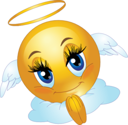 clip transparent stock Angel female smiley emoticon. Breath clipart emoji.