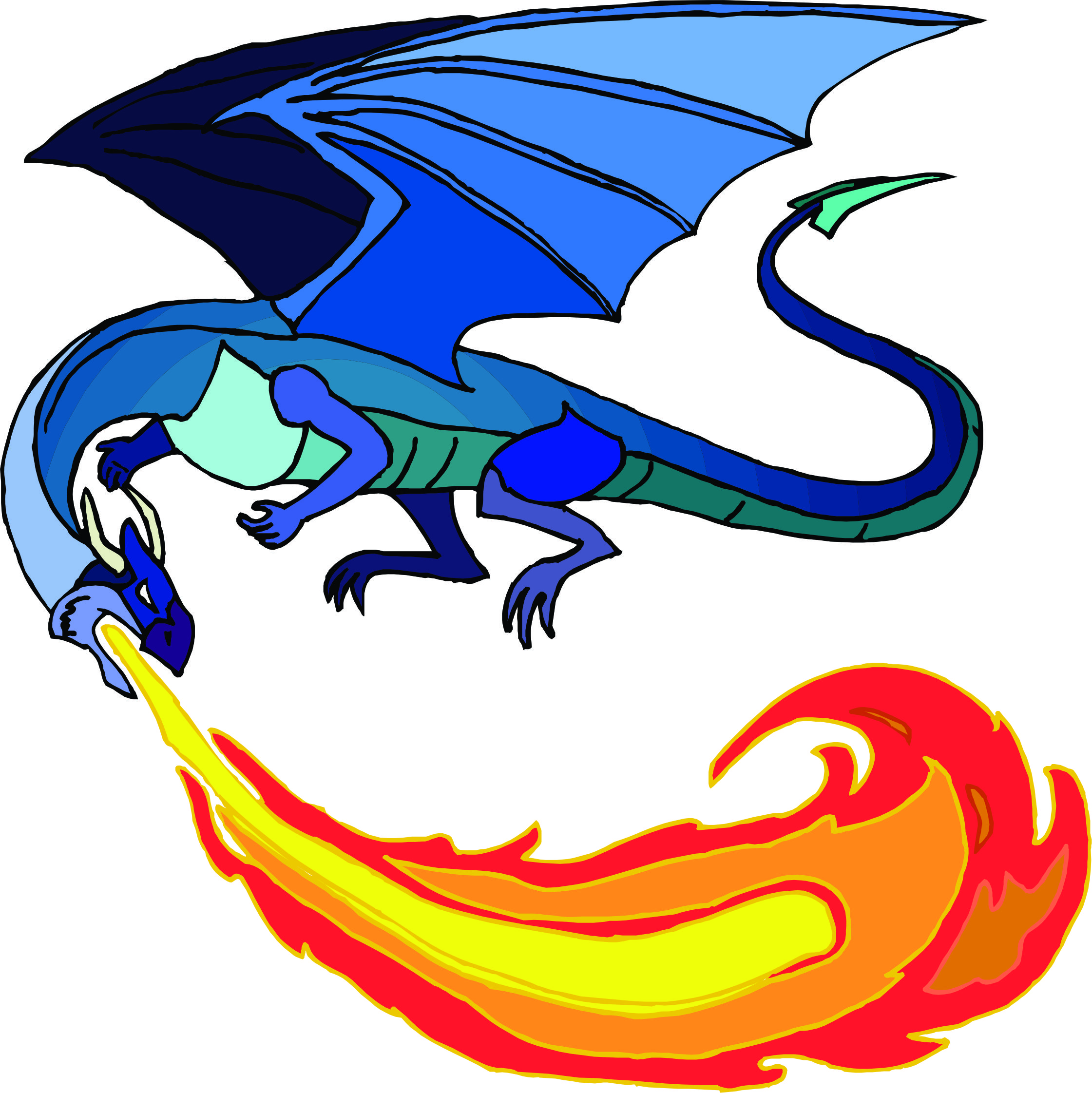 clipart library download Breath clipart fire. Free cartoon dragon breathing