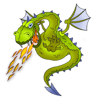 banner download Funny dragons dragon cartoon. Breath clipart fire