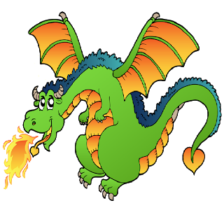 image royalty free stock Cartoon evil dragon breathing. Breath clipart fire