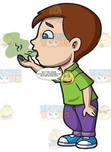 jpg free Breath clipart fresh breath. A boy trying to