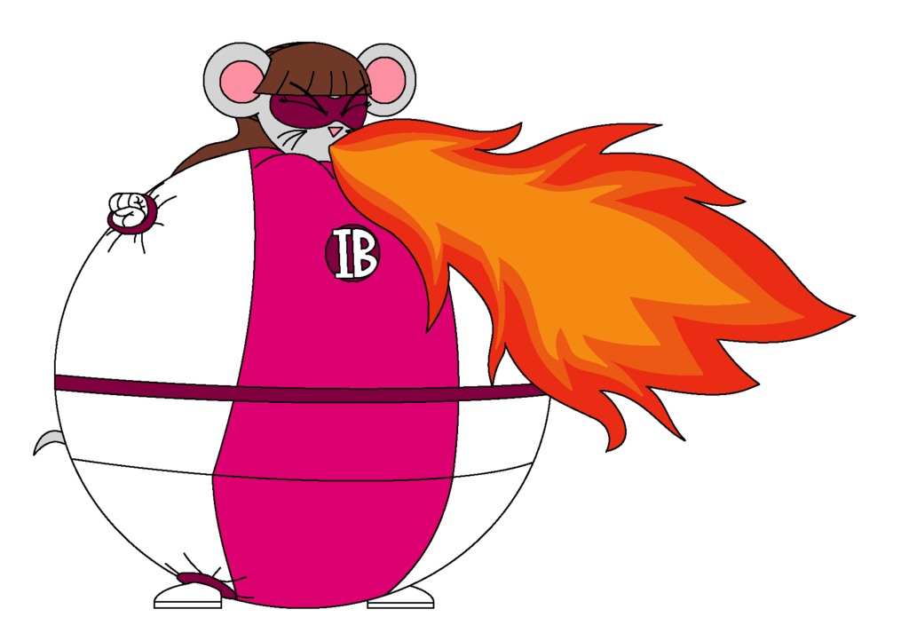 image transparent download Elemental Breathing Mouse Girl uses fire breath by Magic