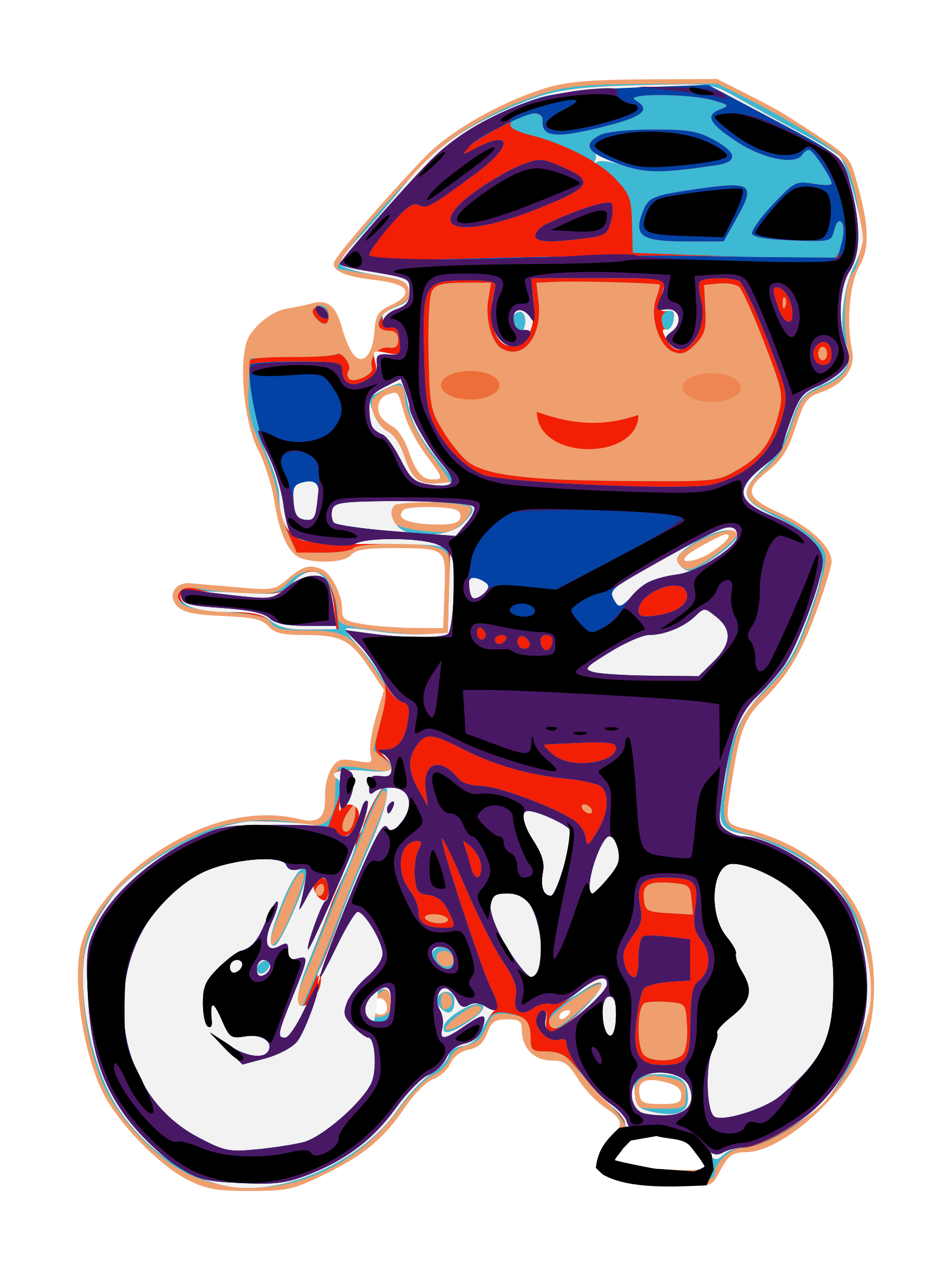 picture black and white Cycling safe free on. Breathe clipart recreation.