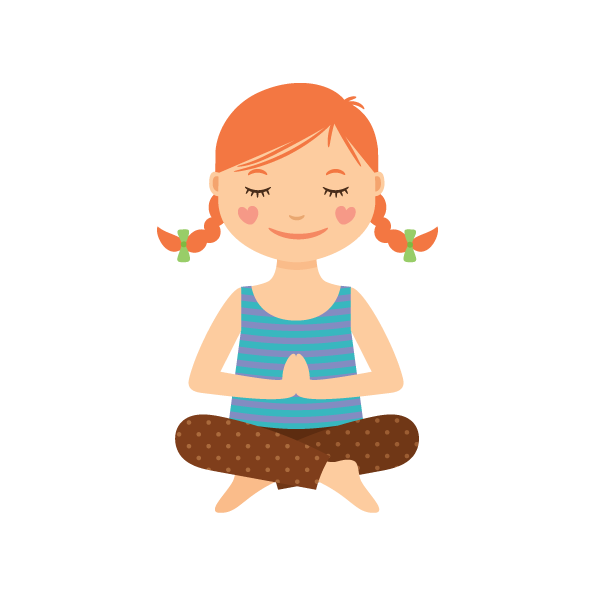 clip art stock Kids relax clipart. Benefits of yoga mindfulness.