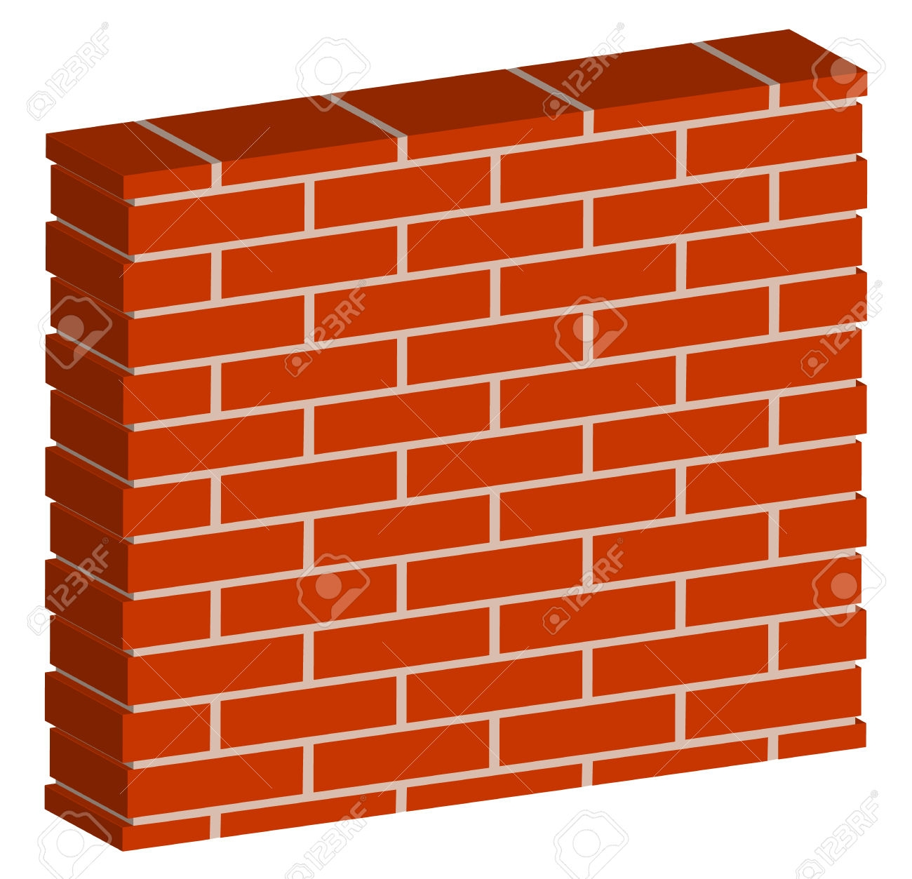 banner library stock Brick building clipart. Wall outdoor lighting landscape.