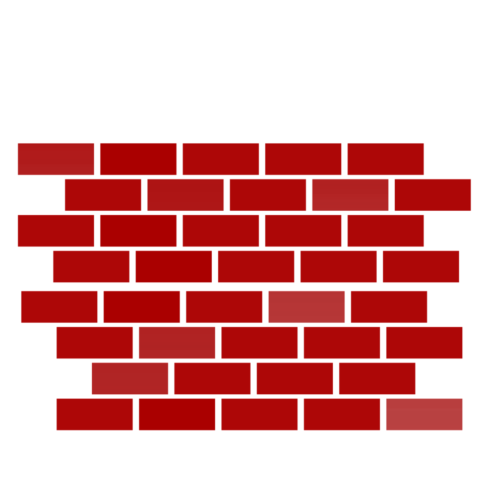 stock Clipart wall.  collection of brick