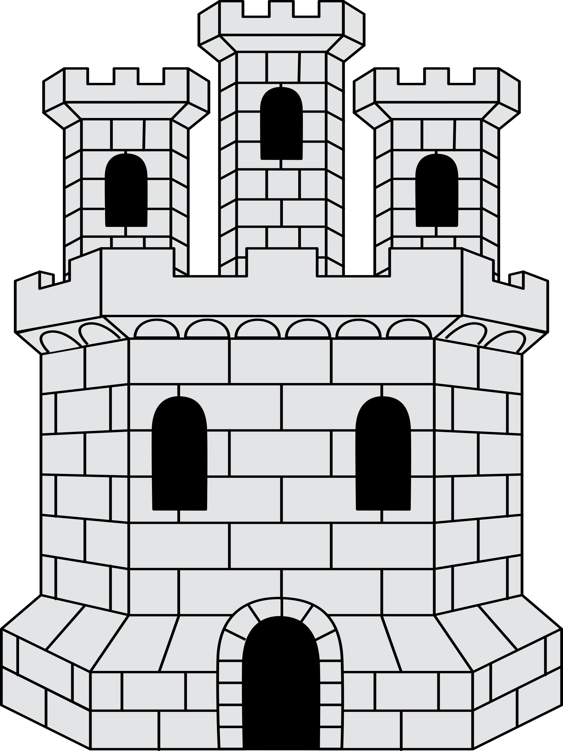 jpg free download Castle free on dumielauxepices. Brick clipart black and white