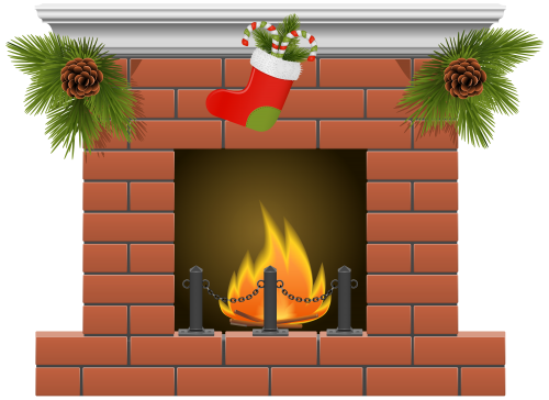 svg black and white download Christmas Fireplace PNG Clipart The Best PNG Clipart