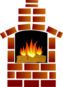 free library Brick clipart brick chimney. Fireplace panda free images