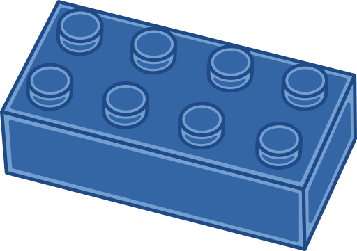clipart library library Brick clipart brick lego. Blue i royalty free