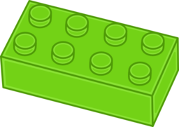 graphic black and white library Green i royalty free. Brick clipart brick lego