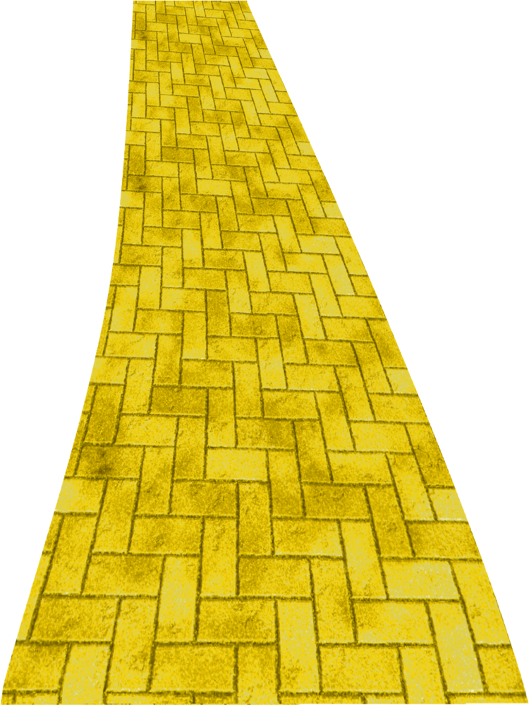 image transparent download Path yellow road free. Brick clipart brick pathway.