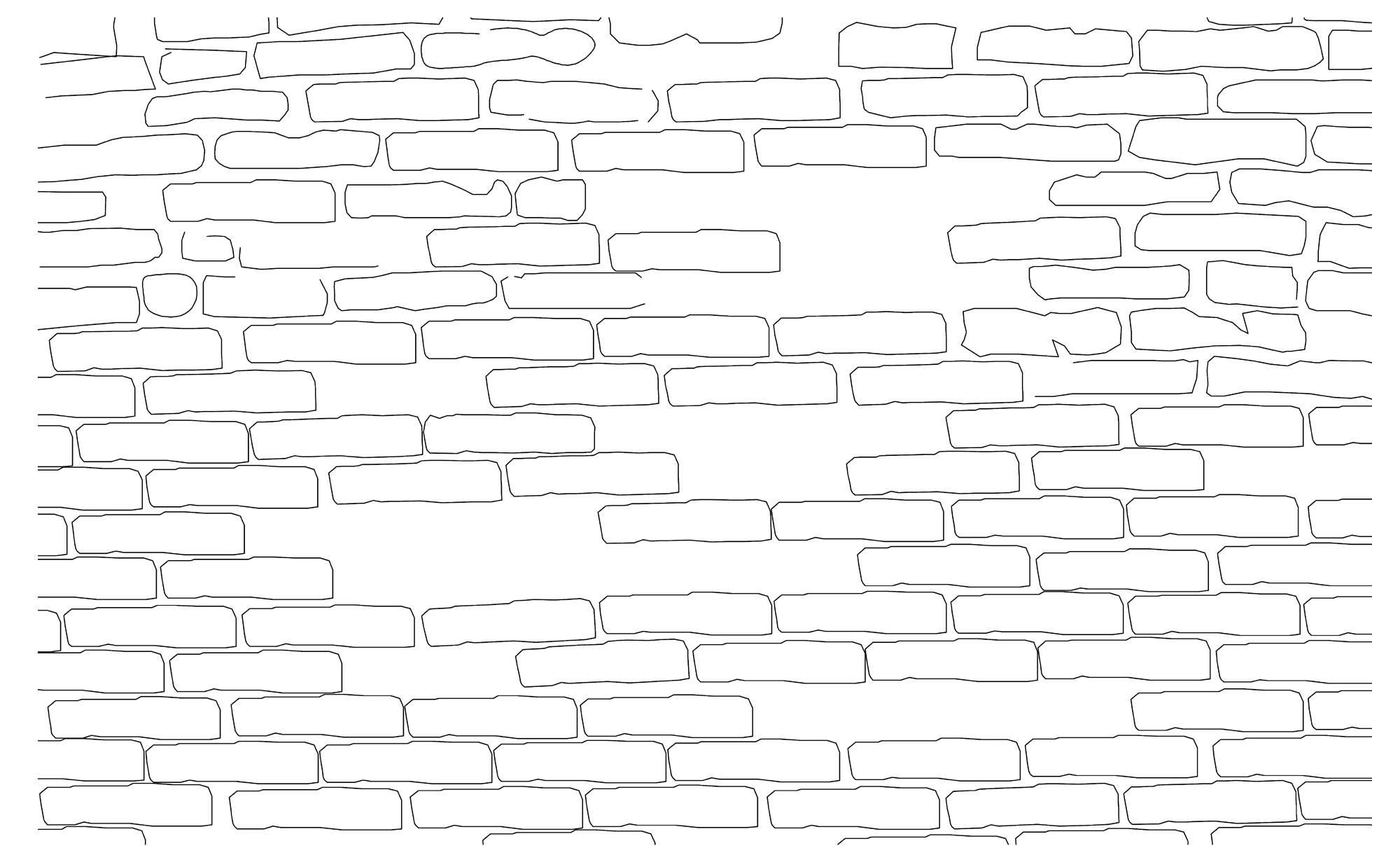 jpg black and white library Drawing texture latest with. Brick clipart stonework.
