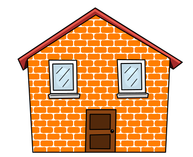 picture royalty free library Brick building at getdrawings. Drawing sticks hut