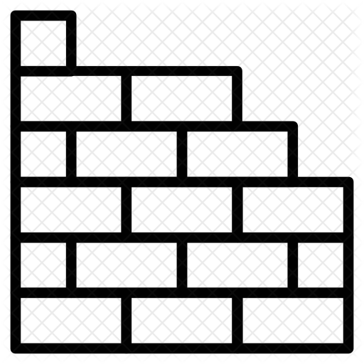 png free download Brick wall black and white clipart. Icon industry infastructure icons