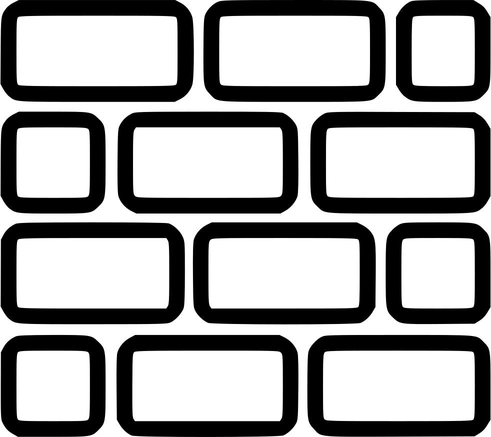 image free stock Lego svg png icon. Brick wall black and white clipart
