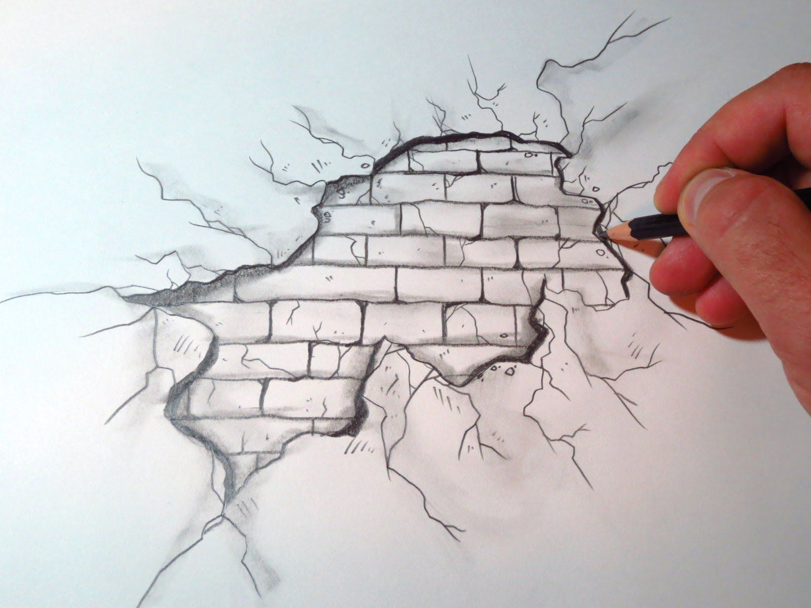 clip art free stock How to draw a. Crack drawing pencil