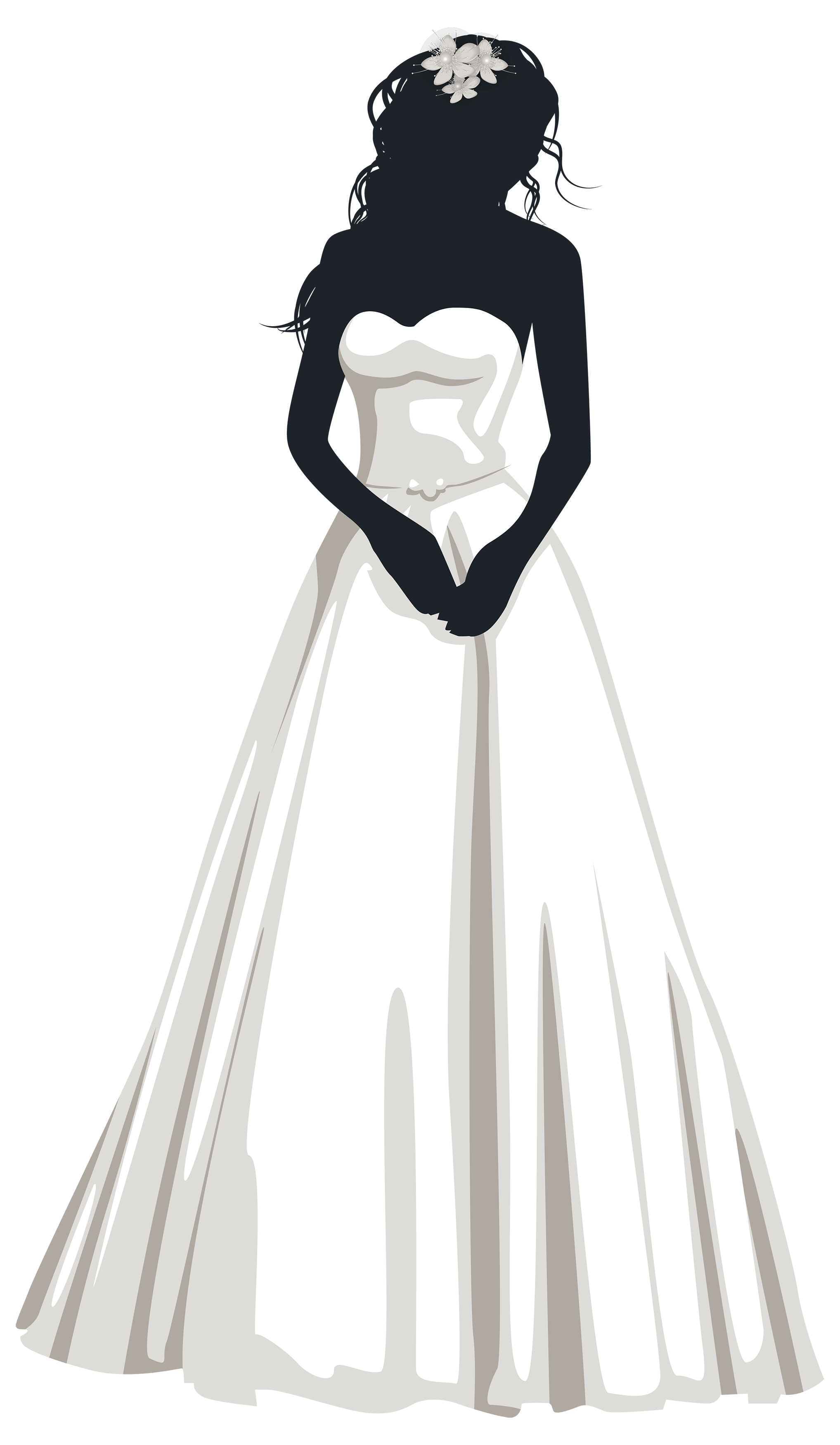 jpg stock Gown clipart wedding dress. Bride silhouette png clip