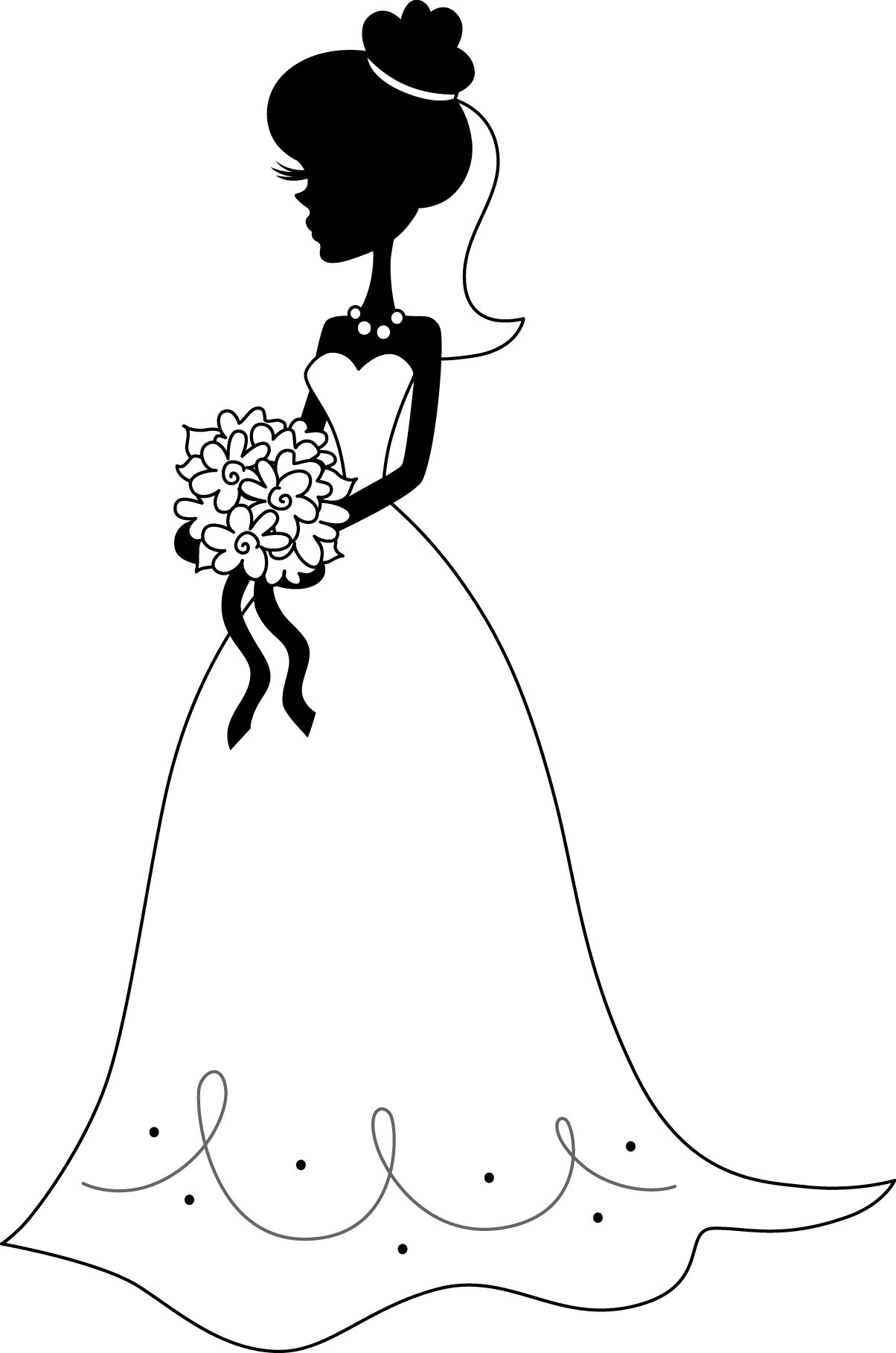 graphic free download Bridal clipart. Bride transparent background free
