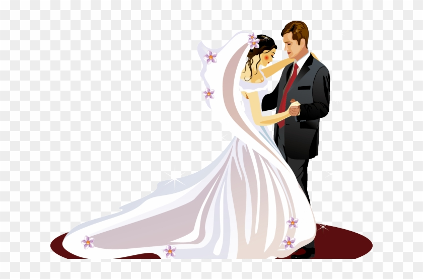 free stock Bridal clipart ballroom dress. Bride wedding couple png.