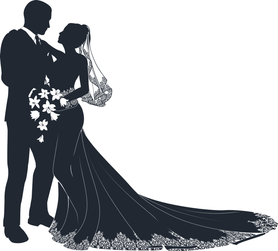 vector free library Mother and child silhouette. Bridal clipart ballroom dress.