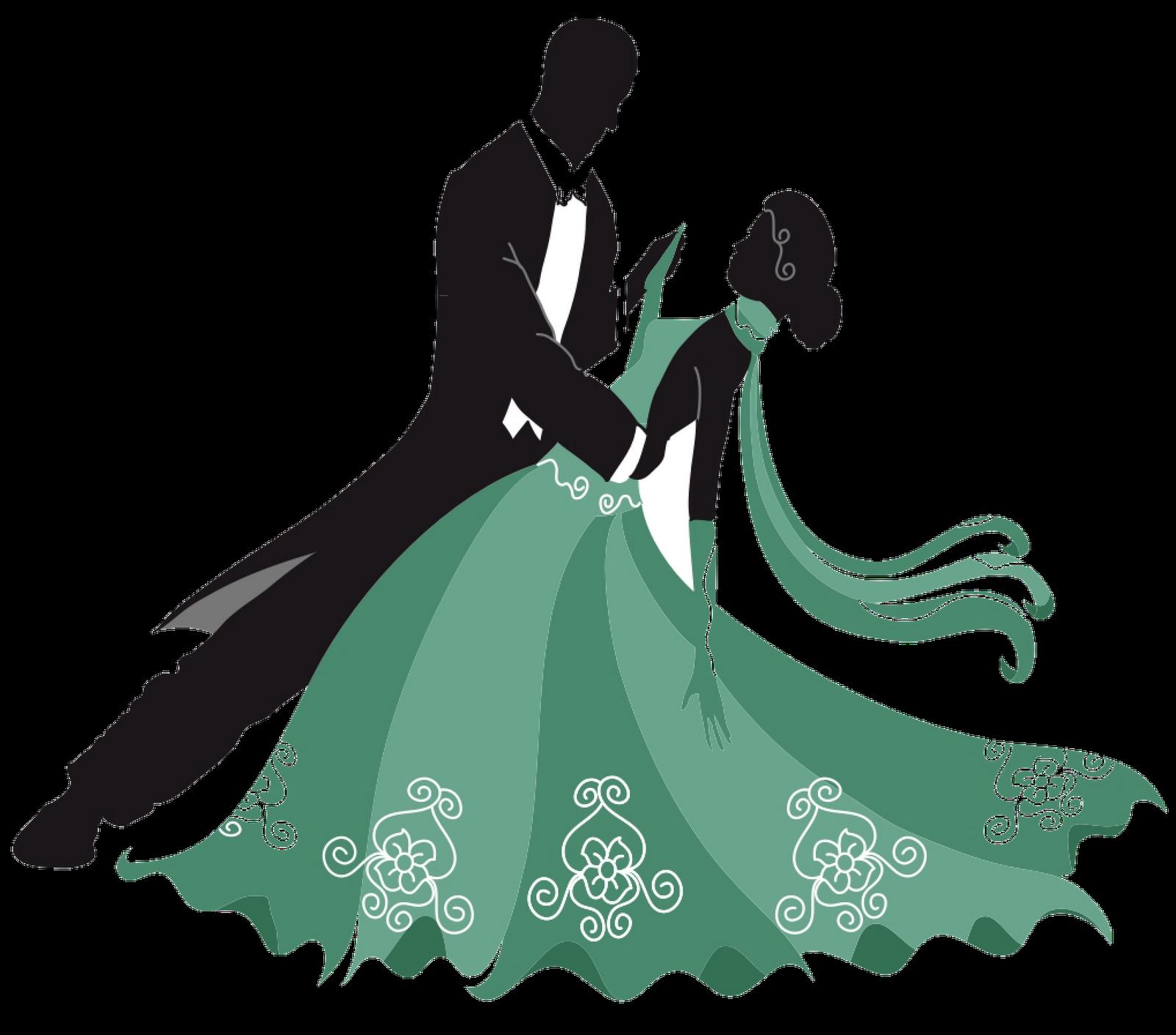 svg Bridal clipart ballroom dress.