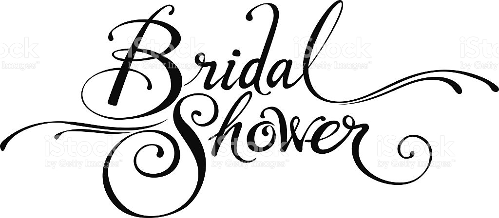 transparent Shower luxurious and splendid. Bridal clipart calligraphy