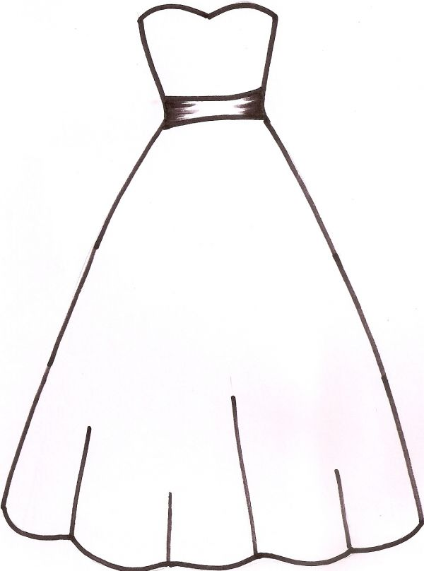image royalty free Bridal clipart summer. Collection of wedding dress.