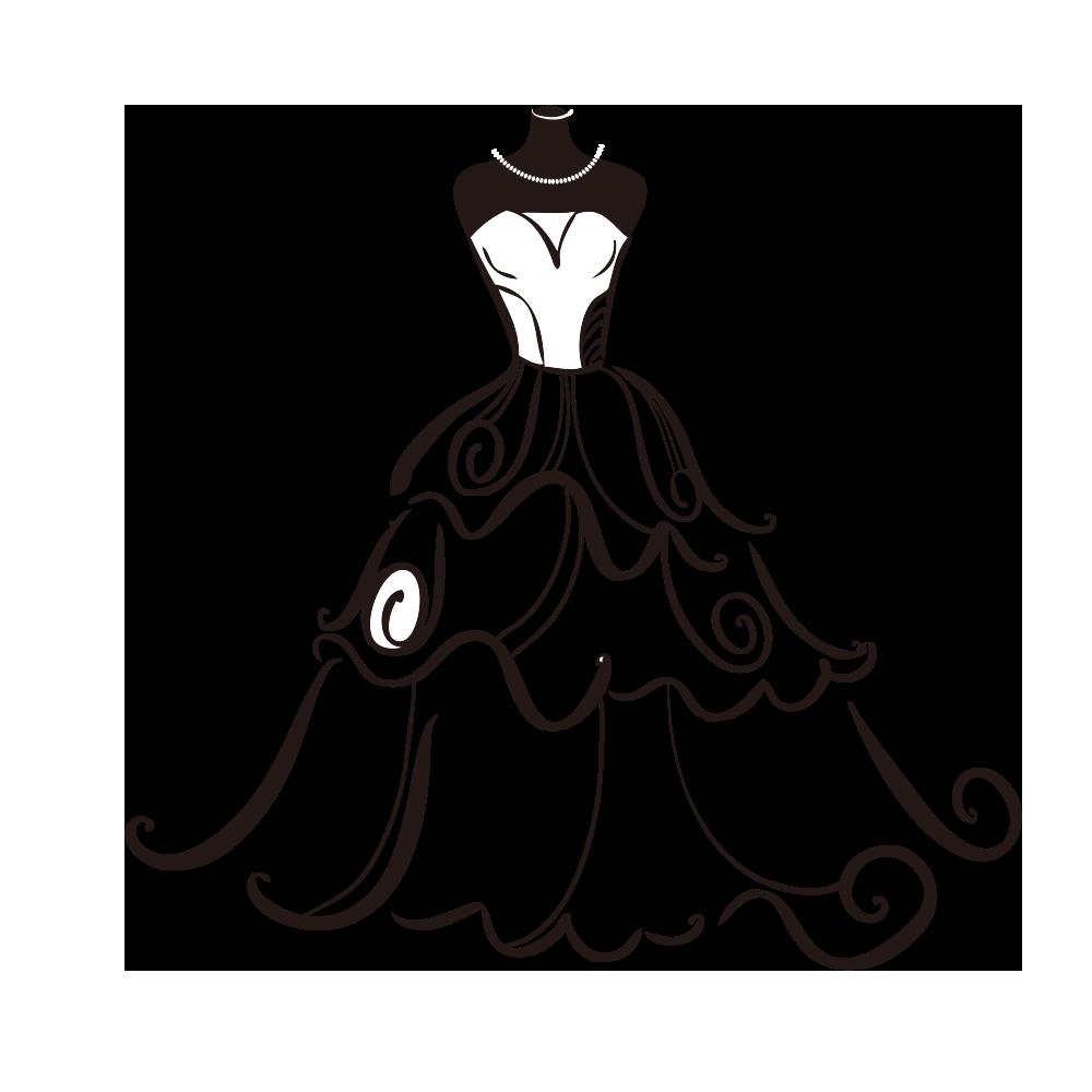 banner free Dress bride clip art. Bridal clipart wedding artwork