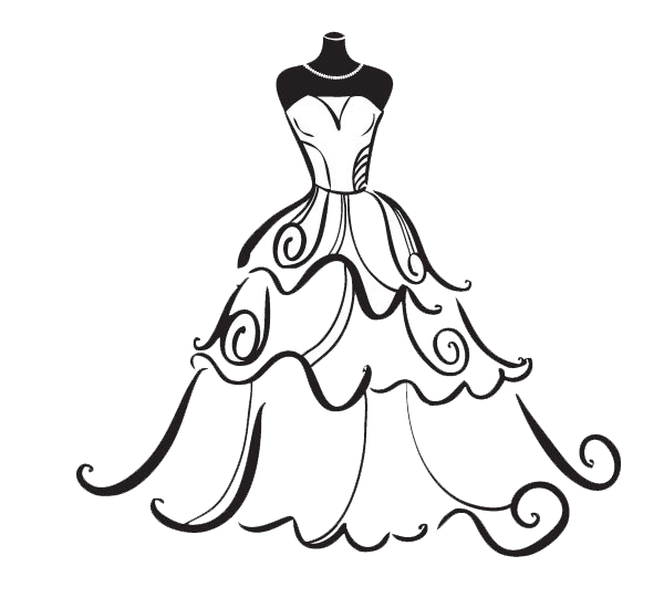 jpg freeuse stock Dress bride clip art. Bridal clipart wedding artwork