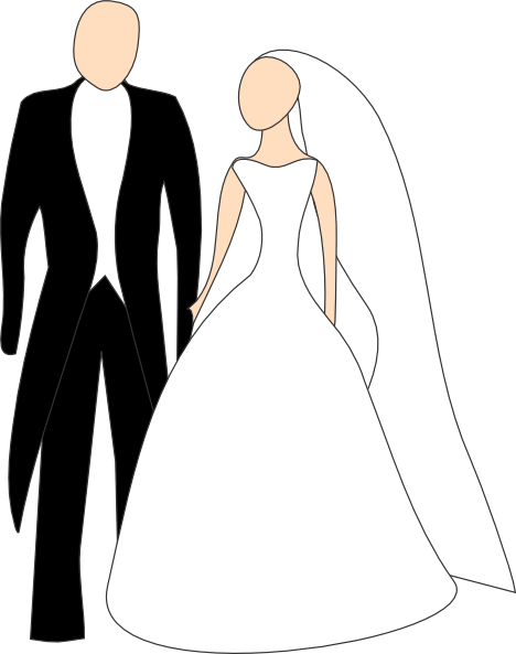 vector stock Bride And Groom Clipart Black And White