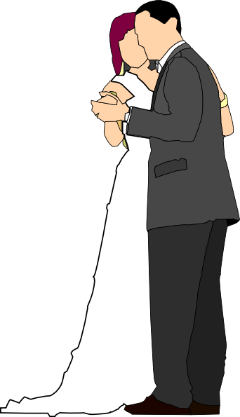 clipart stock Bride And Groom Clip Art at Clker