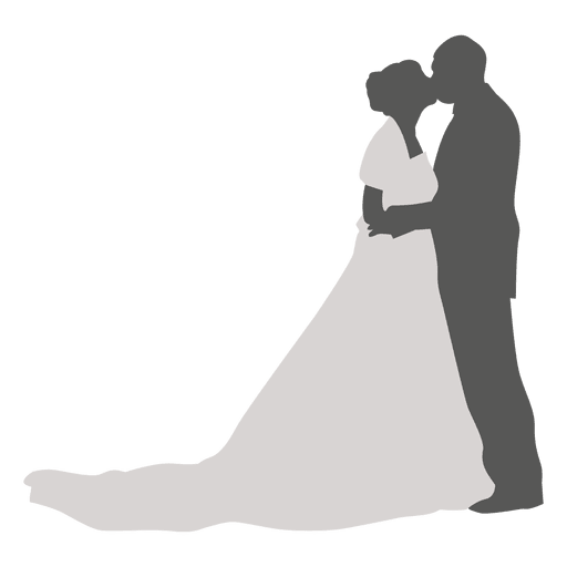 clip art free Bride And Groom Kissing Silhouette at GetDrawings