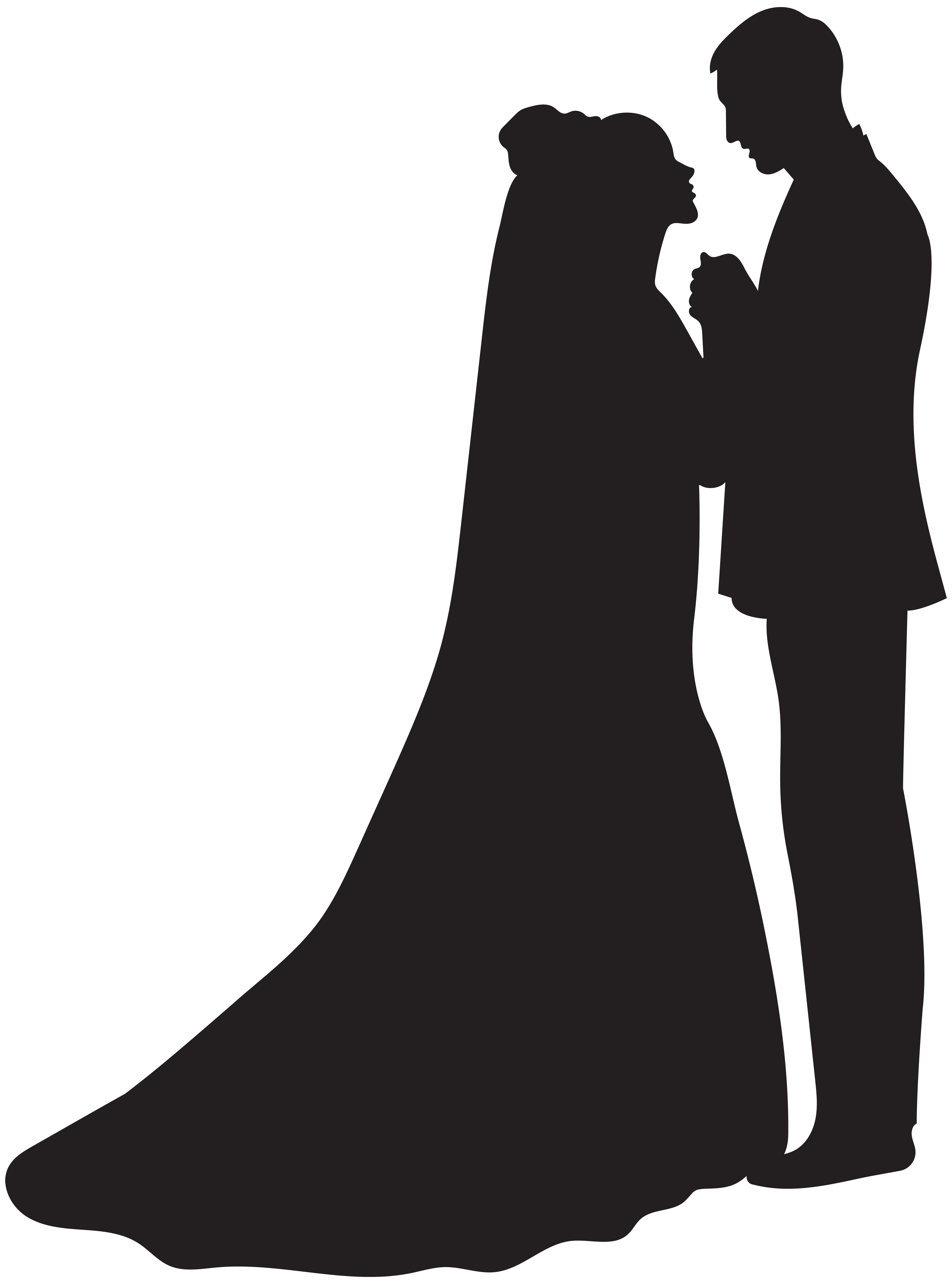vector free library Silhouette at getdrawings com. Groom clipart bride