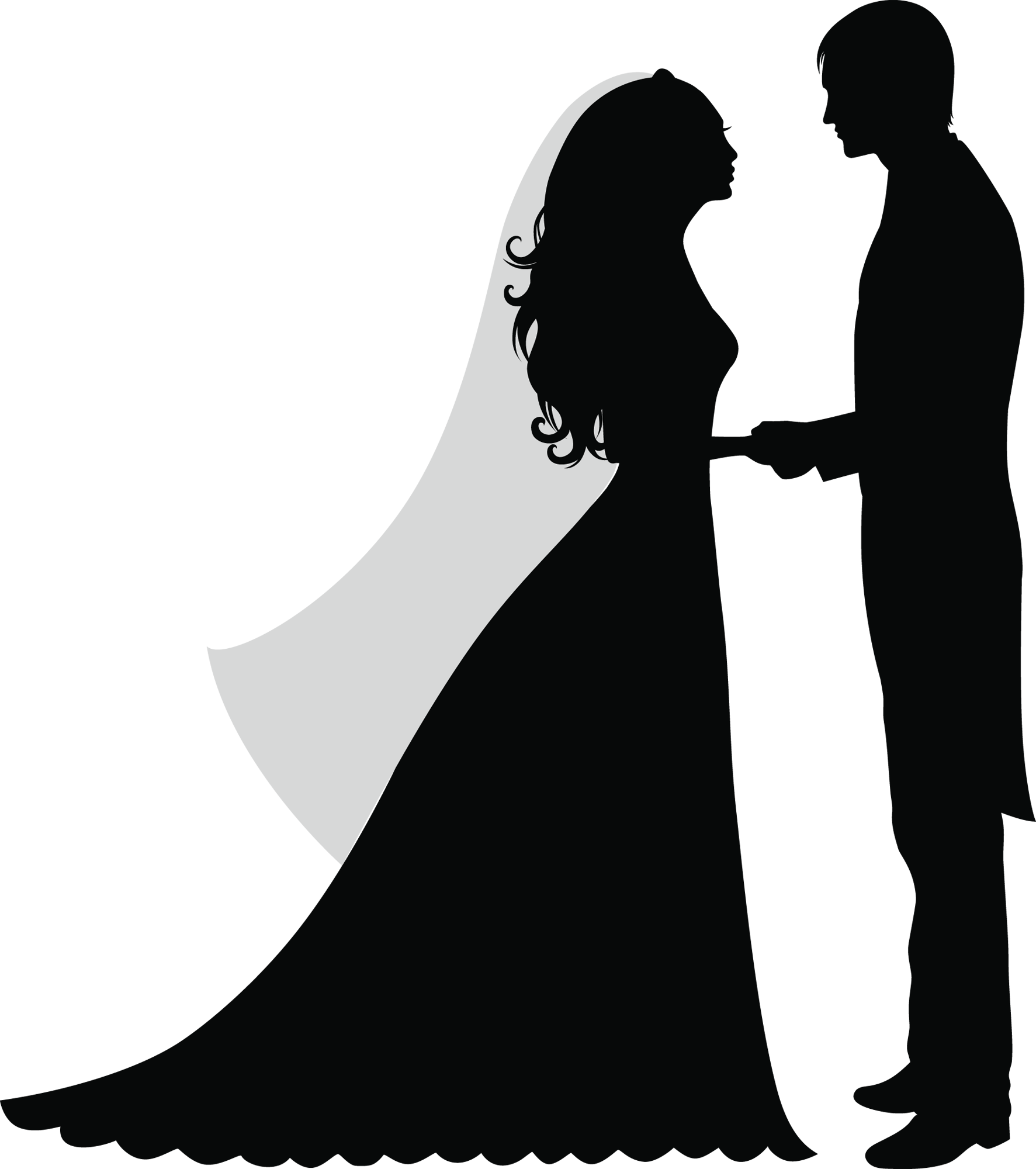 picture transparent download Bridal clipart ballroom dress. Casamento silhouette pinterest stenciling.