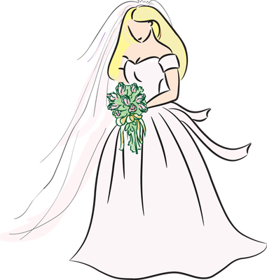 banner black and white Clip art many interesting. Bride clipart sad