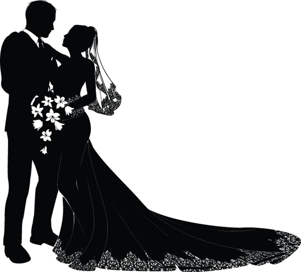 svg free And groom silhouette free. Bride clipart zentangle.
