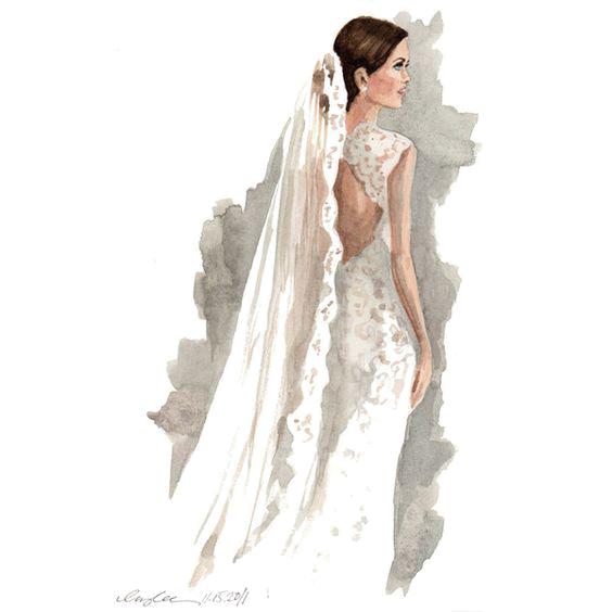 clip art free library Drawing Bride Wedding Sketchbook Sketch