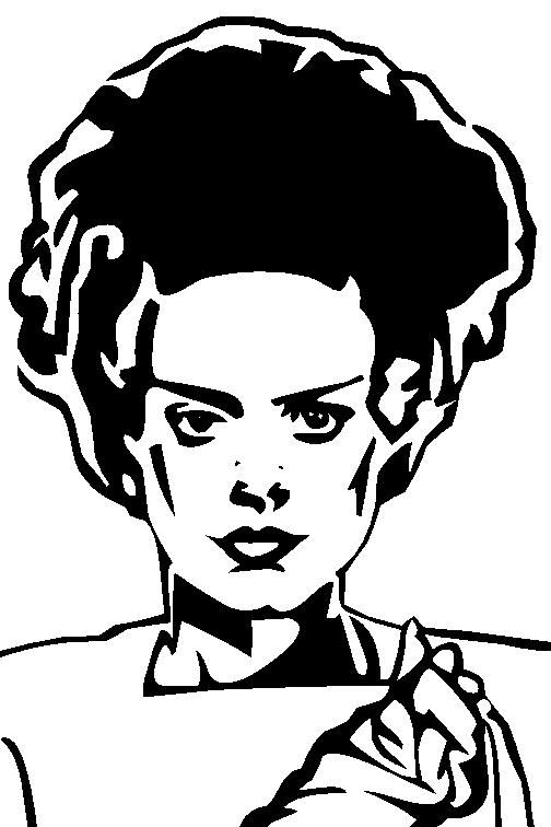 picture Portal . Bride of frankenstein head clipart.