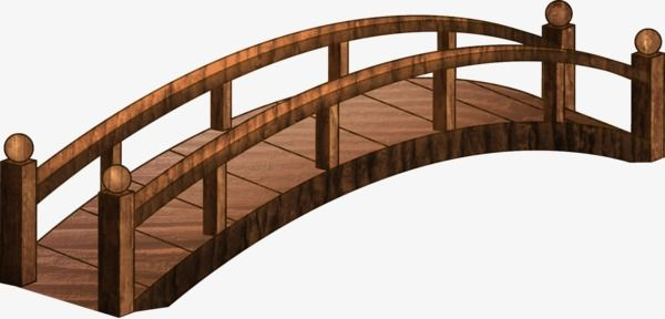 picture freeuse library Wooden diy in garden. Bridge clipart.