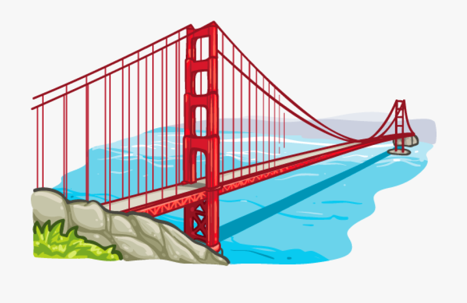 transparent Bridge clipart. Long png image purepng