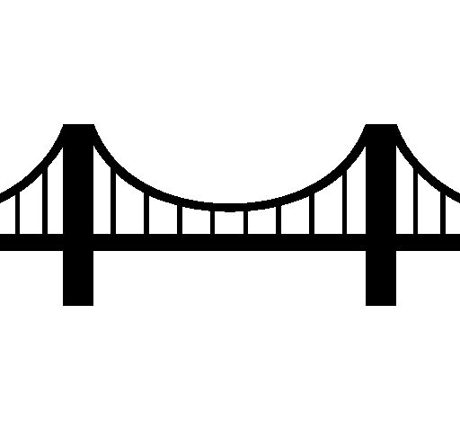 clipart freeuse download Bridge clipart. Free black and white