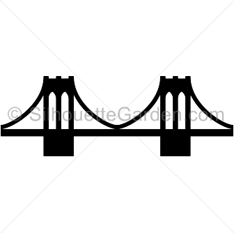 jpg transparent Bridge clipart. Brooklyn silhouette clip art
